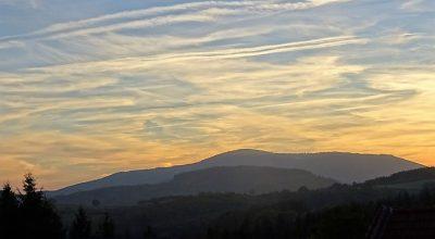 Vue sur le mont beuvray du gite Boisseau